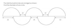 PSLE Maths Tough Question Identical Semicircles