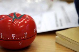 Pomodoro timer tomato