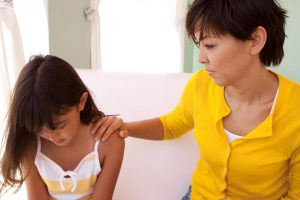 Parent counselling her daughter who was caught cheating in the online test in Singapore
